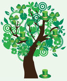 St. Patrick Tree — Stock Vector