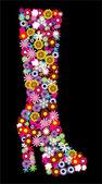 花卉鞋 — 图库矢量图片
