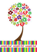 Floral Tree — Stock Vector