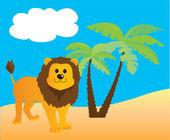 лев — Cтоковый вектор