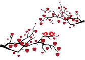 Valentijn boom — Stockvector