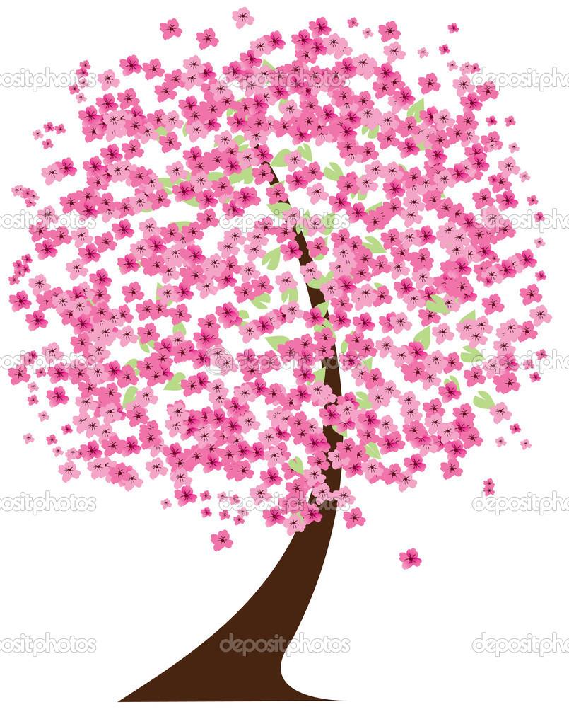 樱桃树 — 图库矢量图片 #43116739