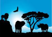 Animals — Vettoriale Stock