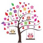 Owl Family — 图库矢量图片 #51792769