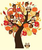Fall Tree — Stock Vector