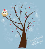 Snow Owl — Stock Vector