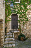 Old village doors with steps — Stock Photo