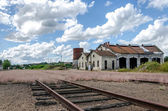 Abandoned train station — Stock Photo