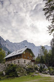 Alpine hut in Vrata valley — Stock Photo