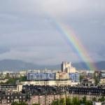 Rainbow over Ljubljana — Stock Photo #26065989