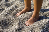 Burried feet — Stock Photo