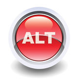 Glossy alt sign button for web applications. — Stock Photo