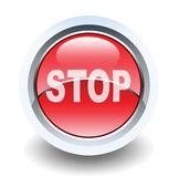 Bouton brillant panneau d'arrêt pour les applications web. — Photo