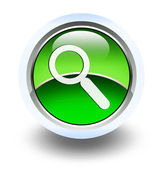 Glossy search sign button for web applications — Stock fotografie