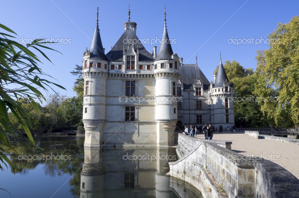 azay le rideau castle loire valley france stock photo vanillafire21 13907495. Black Bedroom Furniture Sets. Home Design Ideas