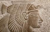 Détail d'une représentation de marbre égyptienne ancienne d'amon-ra — Photo