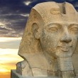 Ramses II in a wonderful sunset - Stock Photo
