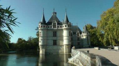 Azay le Rideau castle, France — Stock Video