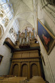 Interior view of a catholic medieval church — Stock Photo
