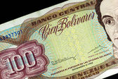 Old note of one hundred Bolivares — Stock Photo