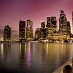 Singapore: Marina bay at sunset time — Stock Photo #14056108