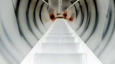 Sci-Fi escalator going down