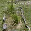 Tomb in an old cemetery - Stock Photo