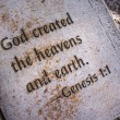 Stock Photo: In beginning, God created heavens and earth. Genesis 1:1