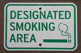 Designated smoking area — Stock Photo