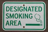 área específica para fumar — Foto Stock