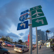 Biscayne Boulevard, Miami: to Interstate 95 and airport turn left — Stock Photo #14260925