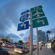 Постер, плакат: Biscayne Boulevard Miami: to Interstate 95 and airport turn left