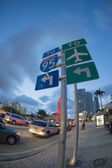 Biscayne Boulevard, Miami: to Interstate 95 and airport turn left — Stock Photo