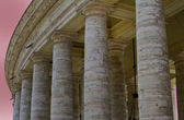 Detail of Bernini Colonnade of St Peter's Basilica in the Vatican — Stock Photo