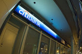 Logo and sign of Citibank, nocturnal — Stock Photo