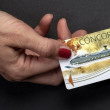 Costa Concordia electronic pass on a black background — Stock Photo #14307385