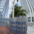 Stock Photo: Sun Trust Bank sign, Miami