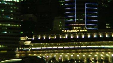 отель fullerton и сингапура залив — Стоковое видео
