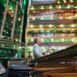 Musician in the lobby of Costa Concordia cruise ship — Stock Video