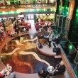 Passengers of Costa Concordia cruise ship relaxing at the elegant lobby bar — Stock Video