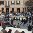 Tourists in Piazza di Spagna, Rome, Italy - Photo