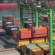 Stock Video: Casablancharbor, Morocco: containers handling