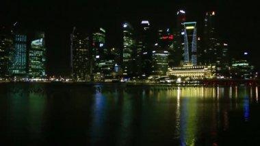 Marina bay by night, Singapore — Stockvideo