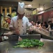 Indonesian chef cooking on the counter — Stock Video