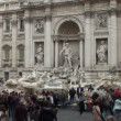 Stock Video: Tourists by the famous Trevi Fountain in Rome, Italy