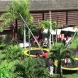 Stock Video: Bungee jumping trampoline