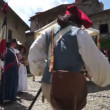 Stock Video: Historic commemoration of French Revolution