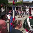 Stock Video: Patriotism during historic commemoration of French Revolution