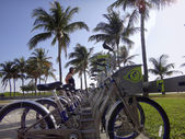 Decobyke bicycles in Miami — Stock Photo