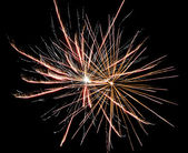 Double fireworks — Stock Photo